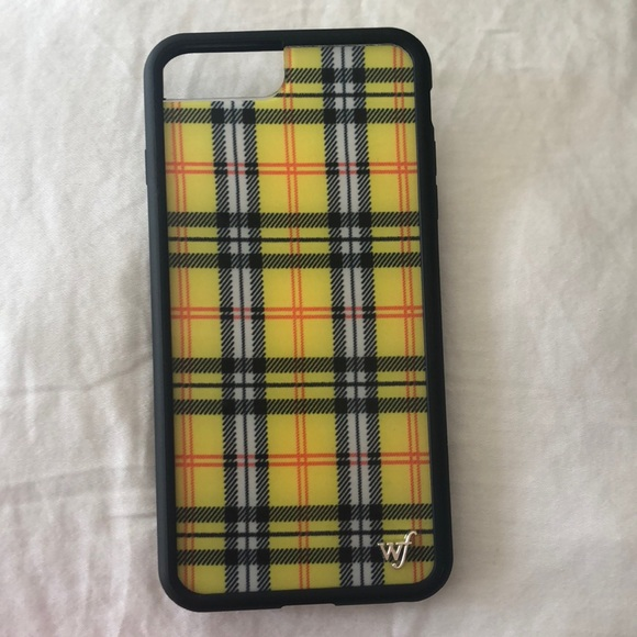 info for 16503 f789d Yellow Plaid Wildflower Phone Case